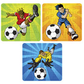 Football Puzzle.  13cm * 13cm.  Available in an assortment of 3 different football pictures.