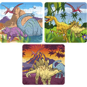 Dinosaur Puzzle.  13cm * 13cm.  Available in an assortment of 3 different dinosaur pictures.