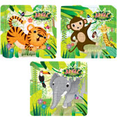 Jungle Puzzle.  13cm * 13cm.  Available in an assortment of 3 different jungle pictures.