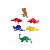 Stretchy Dinosaur, available in an assortment of designs and colours.  Each dinosaur is wrapped in cellophane and measure 5cm unstretched (approx).