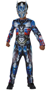 Transformers Optimus Prime Costume includes printed jumpsuit and mask