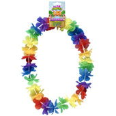 Pack of 12 Multicolour Economy Floral Leis
