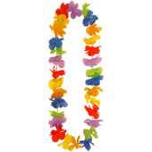 Pack of 24 Multicolour Economy Floral Leis