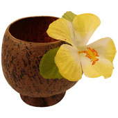 Coconut Goblet with Flower.