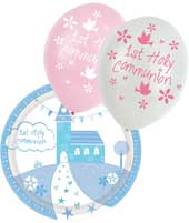 Decorate your venue with decorations and partyware for your first holy communion celebration.