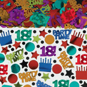 18th Birthday Big Bag Confetti. Metallic. 70g. (2.5oz). Perfect to put in pinatas, invites, presents or scatter on the party tables.