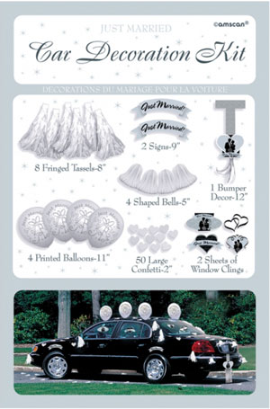 Wedding Car Decorating Kit Fancy Dress Costumes & Party Supplies ...