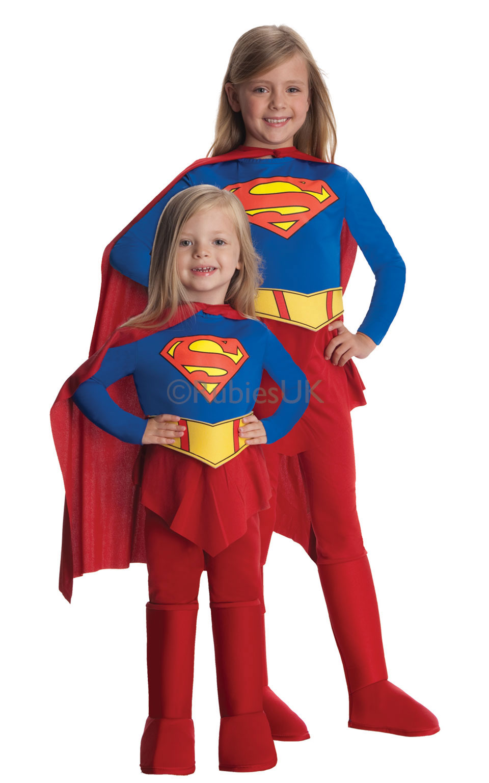 supergirl costumes superwoman costumes  sc 1 st  Little Star Parties & Deluxe Supergirl Costume Fancy Dress Costumes u0026 Party Supplies ...