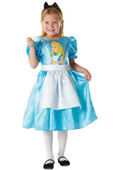 Classic Alice in Wonderland costume, includes dress.