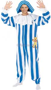 Andy Pandy Costume, includes printed jumpsuit and hat.