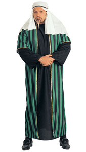 Arab Sheik Costume, includes headdress and robe with attached over-robe.