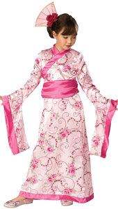 Asian Princess Costume, includes dress, obi and headpiece.
