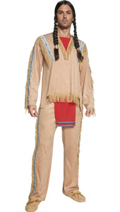 Western Authentic Indian Chief Costume, includes top and trousers.