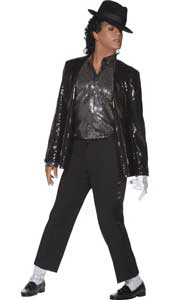 Michael Jacksons Billie Jean Costume, includes jacket, shirt, socks and glove. HAT NOT INCLUDED - SOLD SEPARATELY.