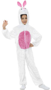 Child Plush Velour Bunny Costume with Hood