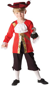 Captain Hook Costume, includes top, trousers, hat and hook.