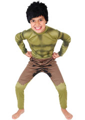 Hulk Costume, includes printed jumpsuit with wig.