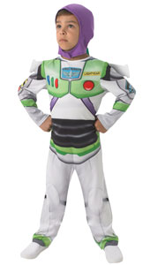 Toy Story Classic Buzz Lightyear Costume, includes jumpsuit with attached snood.