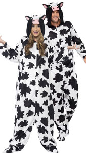 Cow Costume, includes all in one bodysuit with hood.