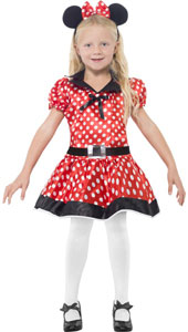 Cute Mouse Costume, includes dress, belt and headband.