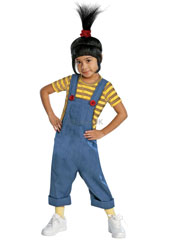 Despicable Me Deluxe Agnes Costume, includes jumpsuit and wig.