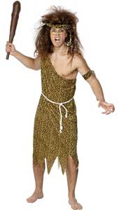Caveman Costume, includes tunic, headband, armband and belt.