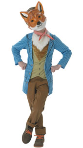 Skip the Light Fantastic in this Fantastic Mr Fox Costume from the Roald Dahl Storybooks.  Fantastic Mr Fox Costume includes Jacket with Faux Fur Chest, Neckerchief and Mask.