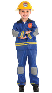 Child Fireman Costume, includes jacket, trousers and hat.