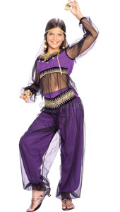 Conjure up the mystery and intrigue of Arabia with this outfit. Wear it 1,001 times and we guarantee your belly dancing skills will be spot on. Harem Princess Costume, includes top, trousers and headpiece.