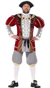 Henry VIII Deluxe Costume. includes jacket and trousers.  HAT SOLD SEPARATELY.