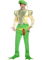 Kiss the Frog, Find the Prince Costume, includes shirt, trousers, hat and shoe covers.