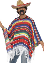 Mexican Man Poncho. Sombrero sold separately.