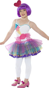 Mini Candy Girl Costume, includes dress and headband.