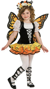 Spread your wings as you emerge from your chrysalis to catch the breeze. Who knows where you'll flit as this magical monarch butterfly? Just mind your lovely colour scheme doesn't get caught in any butterfly nets! Monarch Butterfly Costume, includes dr