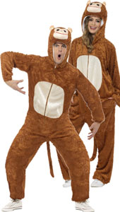 Monkey Costume, includes jumpsuit with hood.