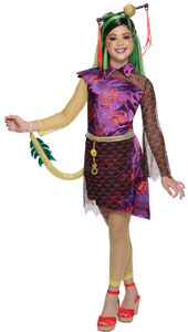 Jinifire Long Fancy Dress Costume includes dress with tail and belt.
