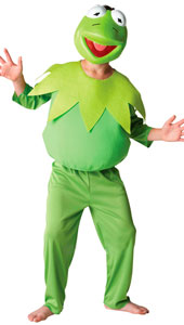 Deluxe Kermit Costume, includes top, trousers and EVA mask.