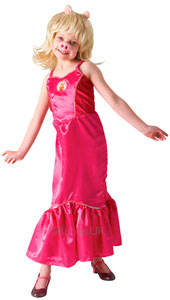 Deluxe Miss Piggy Costume, includes dress, wig with ears and nose.