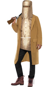 Ned Kelly Costume, includes jacket with faux armour and hat armour.