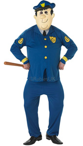 Top Cats Officer Dibble Costume, includes top, trousers and oversized character mask.