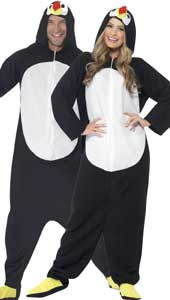 Penguin All in One Fancy Dress Costume with Hood.