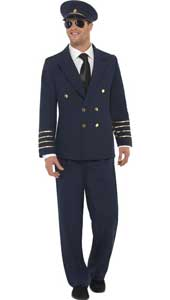 Pilot Costume, includes jacket, trousers and hat.