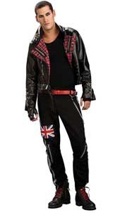 Punked Out Costume, includes jacket and trousers.