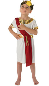 Roman Boy Costume, includes tunic with sash and wreath.