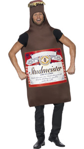 Studmeister Beer Bottle Fancy Dress Costume.