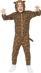 Tiger Costume, includes all in one jumpsuit with Hood.