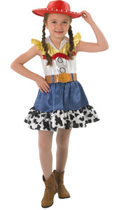 Toy Story Jessie Costume includes dress and glitter hat.  Swapping her chaps for a skirt, Toy Story's yodelling cowgirl is ready to round up cattle and more.