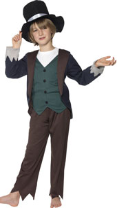 Victorian Poor Boy Costume, includes top, trousers and hat.