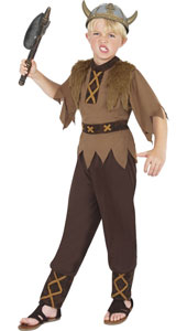 Viking Boy Costume, includes top and trousers. HELMET NOT INCLUDED - SOLD SEPARATELY.