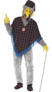 The Wombles Great Uncle Bulgaria Costume, includes poncho, trousers, gloves, shoe covers and headpiece.